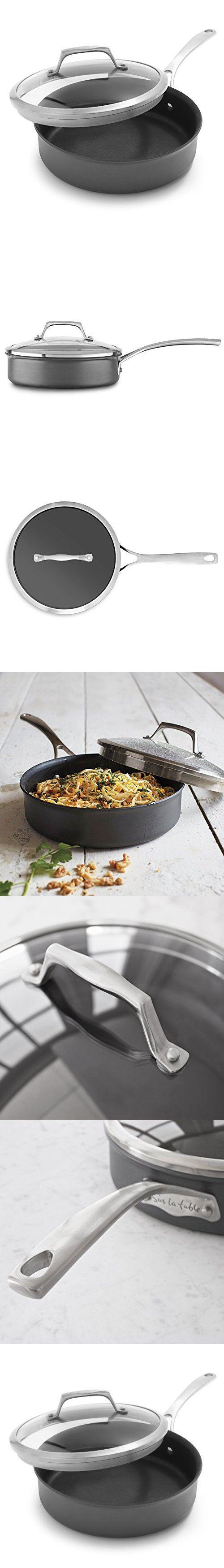 Sur La Table Dishwasher-Safe Hard Anodized Nonstick Saute Pan 84380-C, 3 qt.