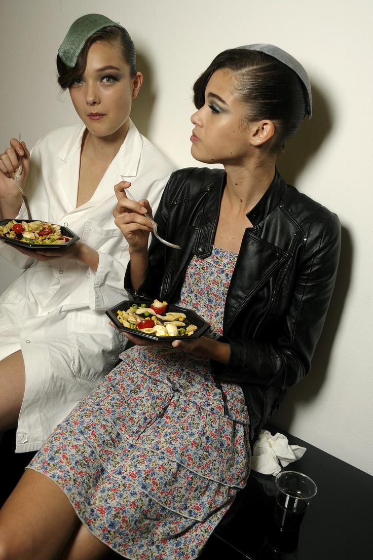 Yumi Lambert & Pauline Hoarau - Giorgio Armani Backstage