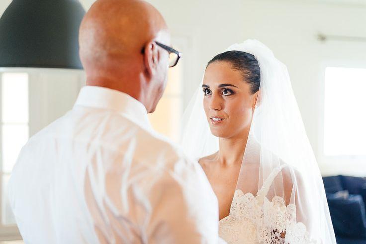 Beach wedding in Athens Greece - Wedding Photographer in Greece | Elias Kordelakos Pronovias wedding dress