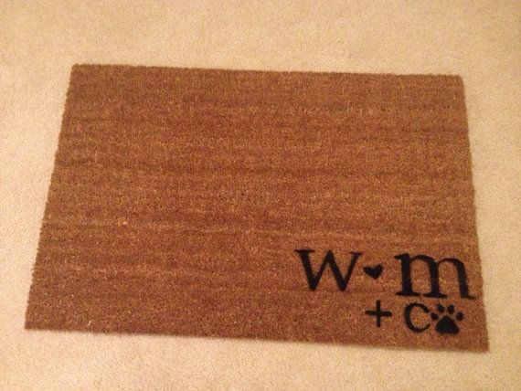 Couples Door Mat PRIORITY SHIPPING by JustSmileAlways on Etsy