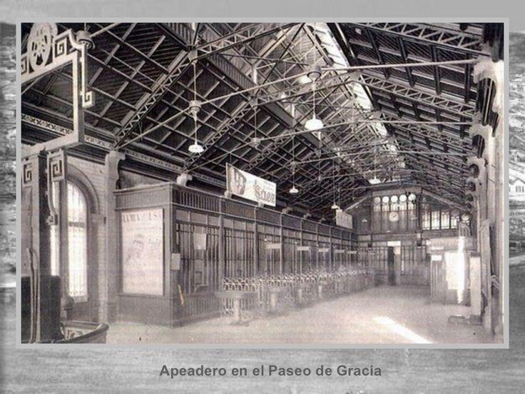 Apeadero en el Paseo de Gracia. Fotos Històriques de Barcelona 1890 – 1932