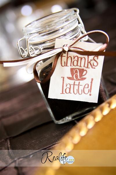 Possibly a wedding favor?  I loooove me some coffee!