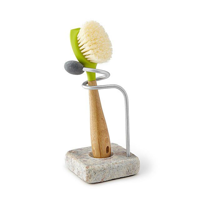 sea stone dish brush holder want pinterest kitchen stone and rh pinterest com Amish Kitchen Dish Pads Bottle Brush Kitchen