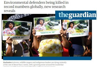 Επιδημία δολοφονιών ακτιβιστών για την κλιματική αλλαγή σε όλο τον κόσμο..