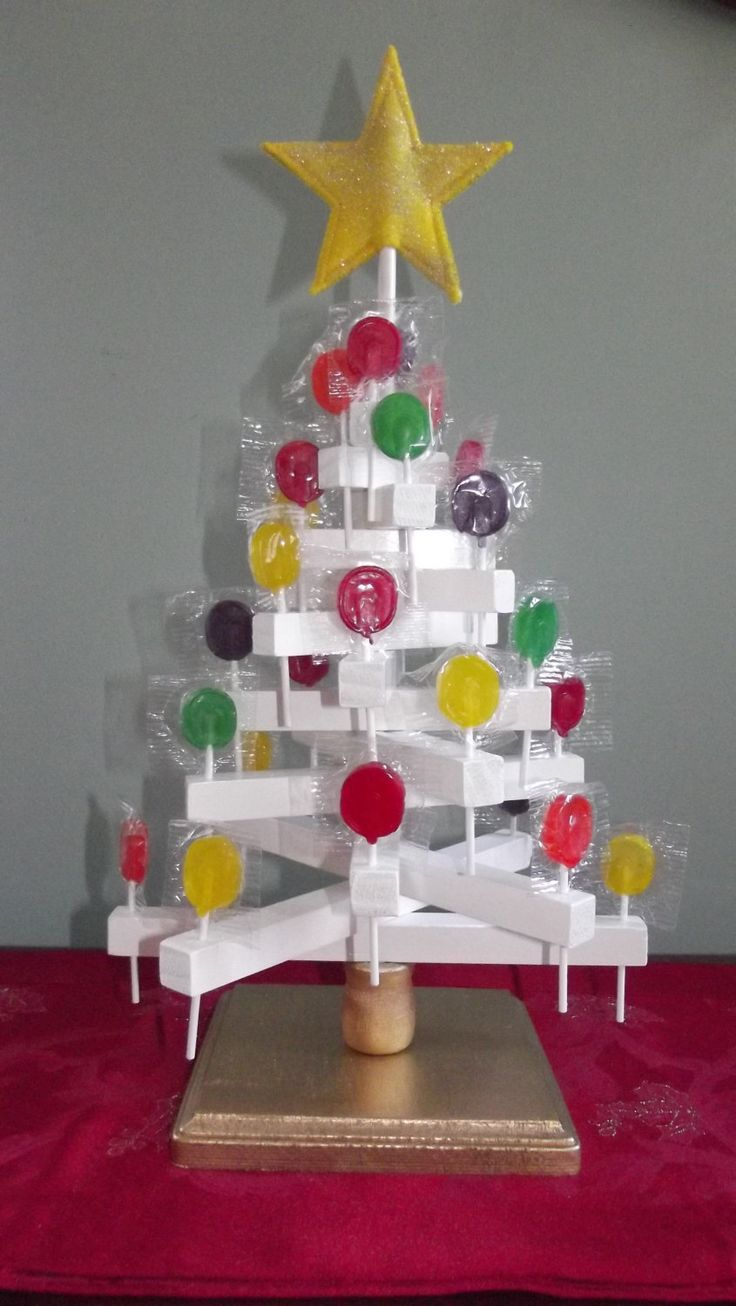 Candy Lollipop Tree, wooden, with 5 seasonal finials for year round fun by SoSewMimi on Etsy