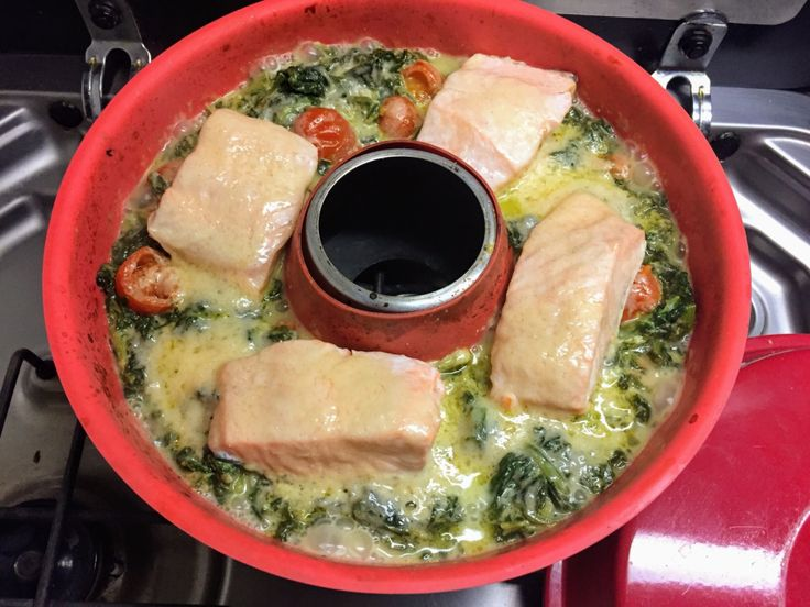 "Spinach Salmon Casserole ""Low Crab""  – Omnia"
