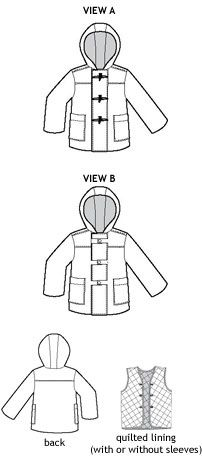 school days jacket + coat sewing pattern