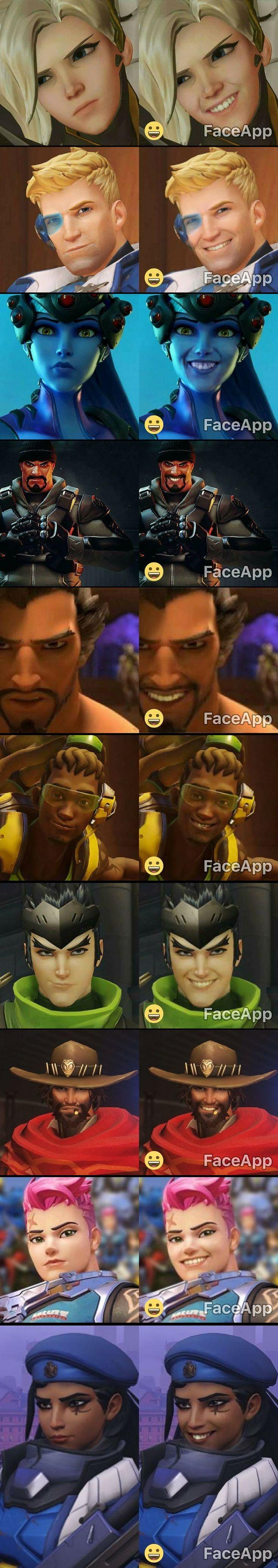 Overwatch sonriente