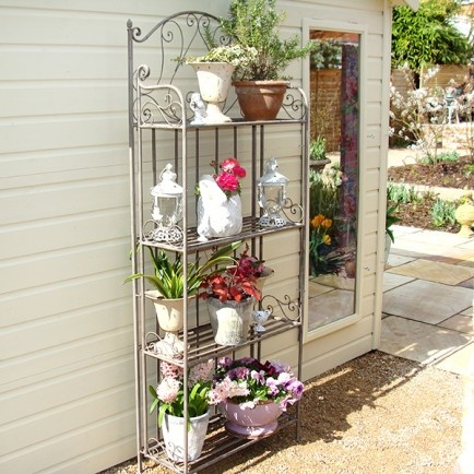 Stunning etagere for use in a conservatory or garden.  Our Venetian Lanterns and Cream Garden Planters (as pictured) are perfect for displaying on this beautiful etagere.