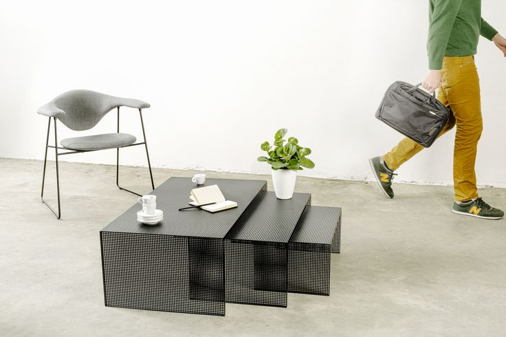 Dentrois a series of minimal side tables created by Italy-based designerMarco Ripa.