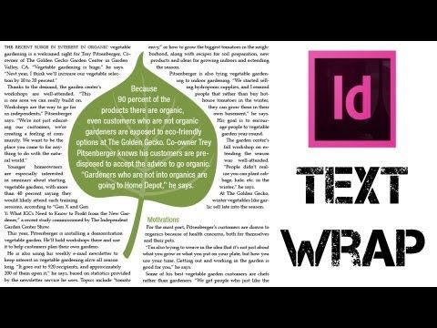 Adobe Indesign Tutorial - Understanding How To Wrap Text Around Objects