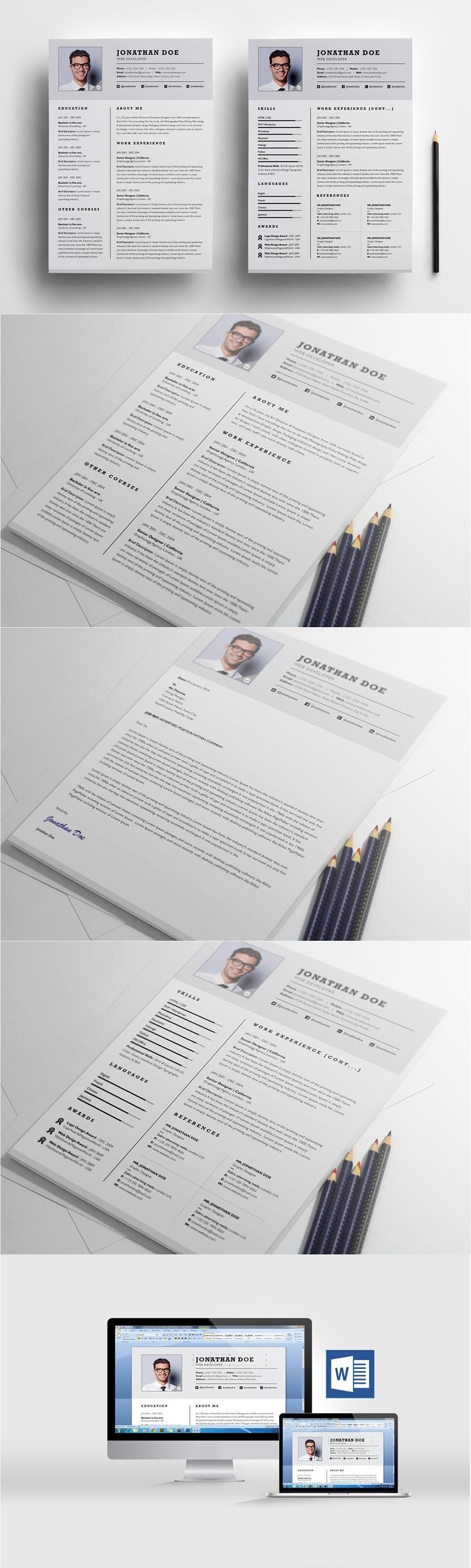 Template For A Cover Letter For A Resume%0A  resume  design from ResumeFoundry   DOWNLOAD  https   creativemarket com   Resume DesignCover LettersResume TemplatesTextile