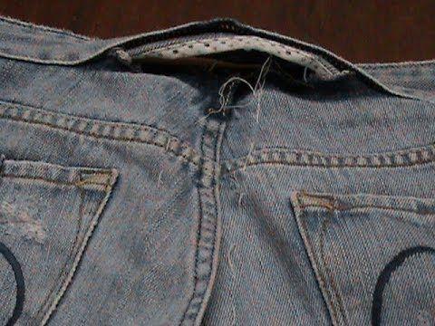 Vídeo-aula Ajuste atrás da calça jeans( parte 3) - YouTube