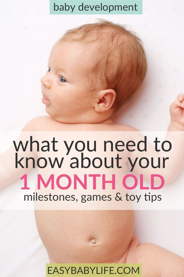 All the 1-month-old baby milestones! And here are some great ideas on 1-month-old baby activities and toys too! 1-month-old baby tips, newborn baby, 1-month-old baby play, 1-month-old development