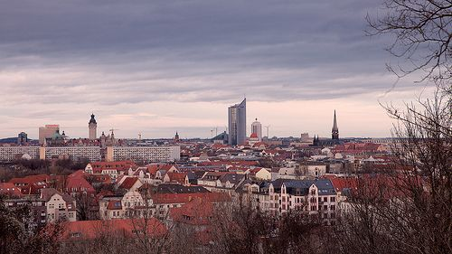 Leipzig vom Fockeberg aus