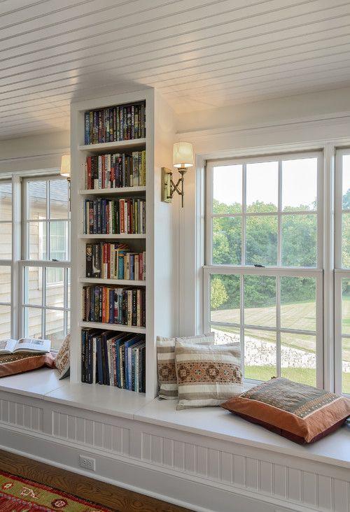 Shelves and reading nooks. Crisp Architects, Millbrook