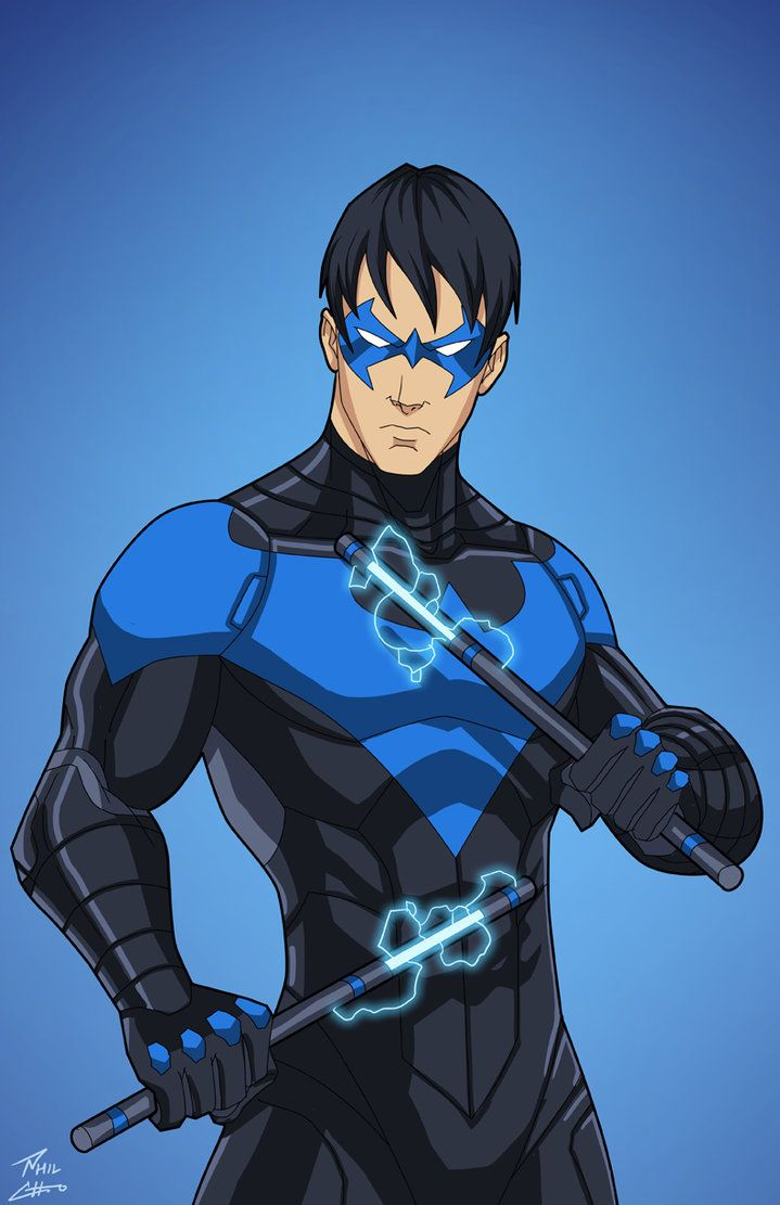 Nightwing (Earth-27) Rebirth colors by phil-cho.deviantart.com on @DeviantArt