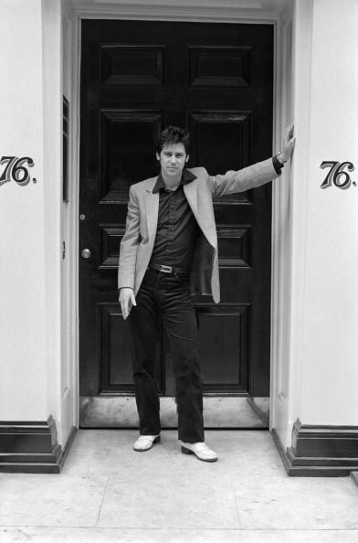 Shakin' Stevens whilst on a photo session in Soho London 1978