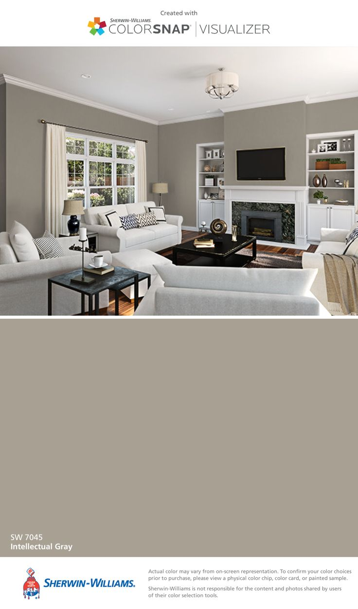 I found this color with ColorSnap® Visualizer for iPhone by Sherwin-Williams: Intellectual Gray (SW 7045).