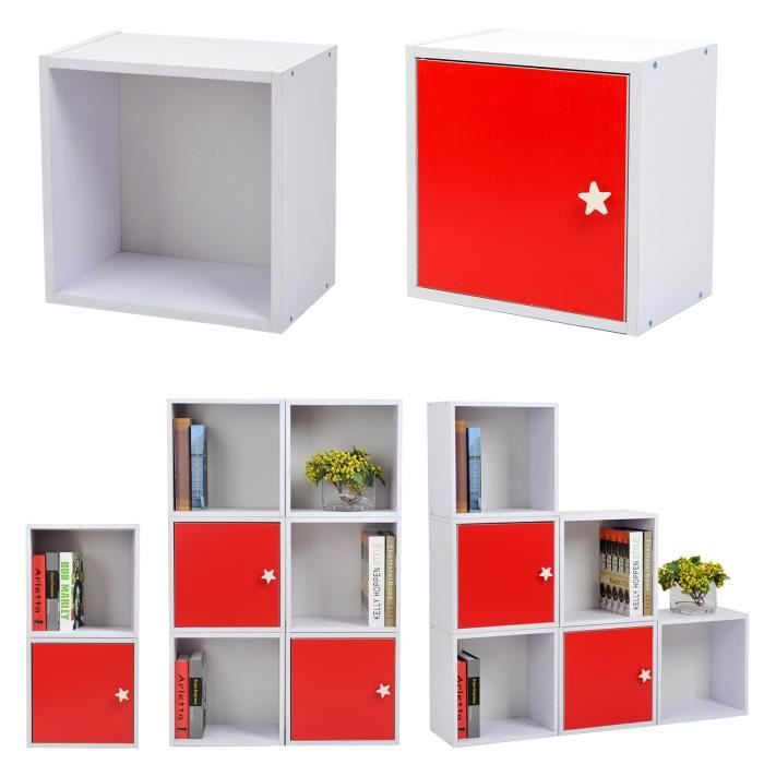 Meuble tag re cube de rangement tag res armoire de for Meuble 4 cases ikea