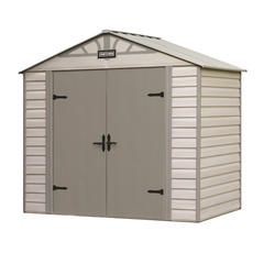 8-ft. x 5-ft. Vinyl-Coated Steel Shed - Exclusive VersaTrack™ Compatibility - Sears
