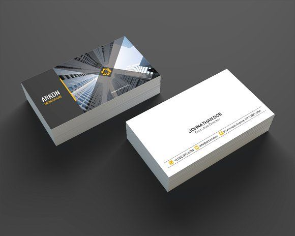 Architecture Business Card SE0207 by annozio on @creativemarket