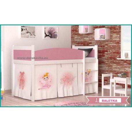 Twist-vyvýšená detská posteľ