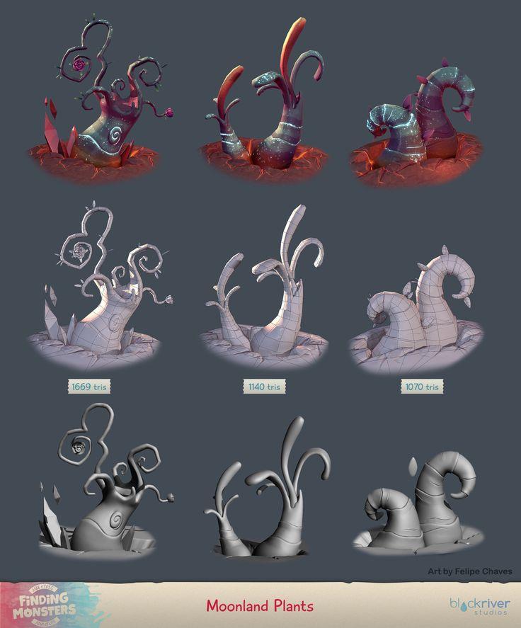 ArtStation - Finding Monsters - Game Assets, Felipe Chaves