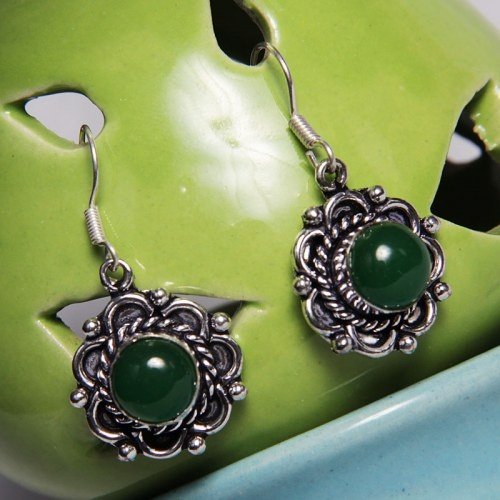 Green Ear Ring