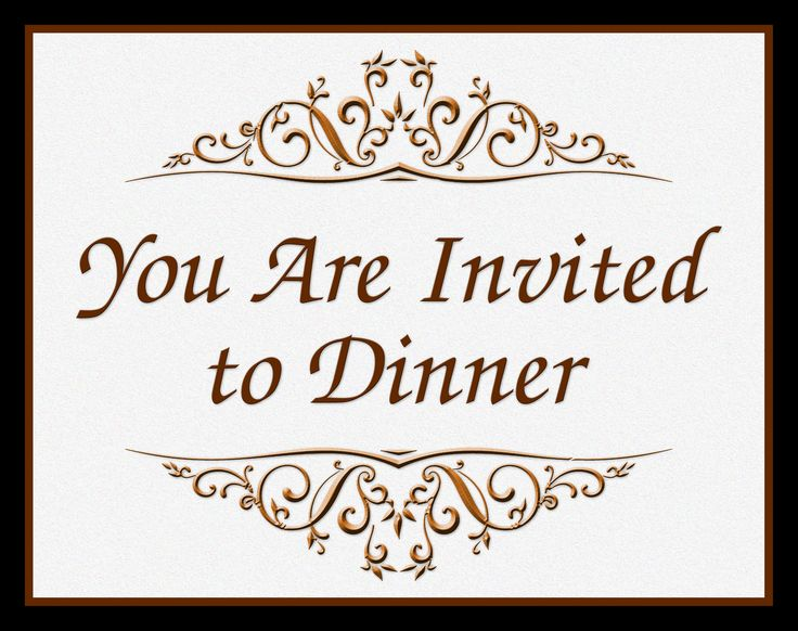Fancy Dinner Invitation - for Year 2, Day 5