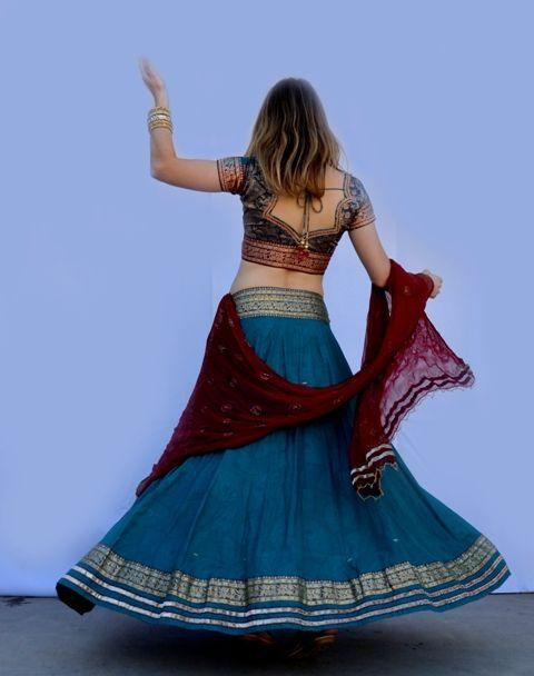 Peacock Gopi Skirt Set | Dancing Gopi Skirt Outfits