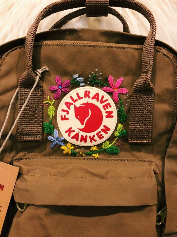 Kanken backpack aesthetic embroidery