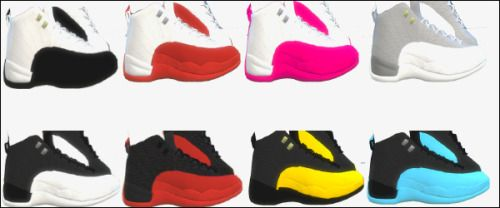Its been real : ChunkySims Jordans 12s by Simsinblaque. (Unisex)