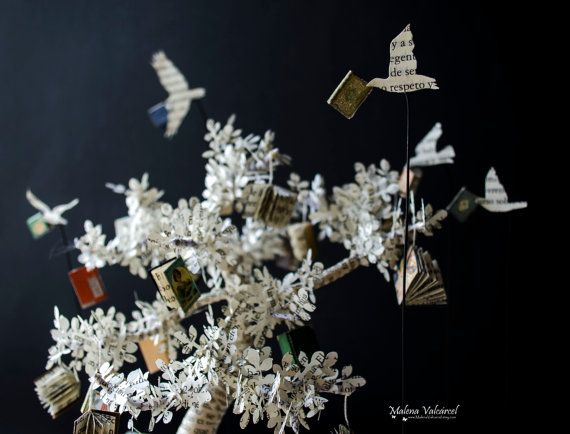 The Tree of Knowledge Book Sculpture Book Art by MalenaValcarcel