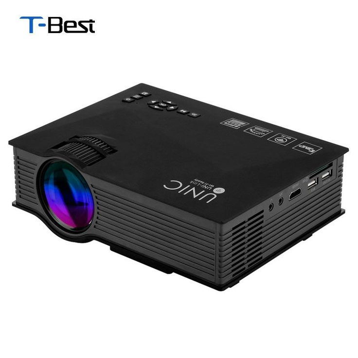 UC46 Wireless WIFI Mini Portable Projector 1200 Lumen 800 x 480 Full HD LED Video Home Cinema Support Miracast