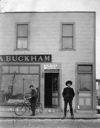 Badass Bikers. Edmonton 1910.