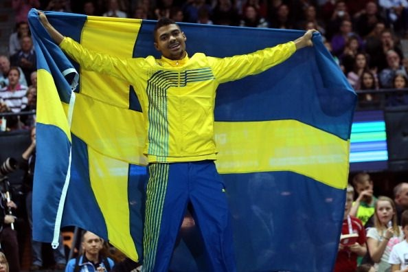 Michel Torneus of Sweden wins silver in the Men's Long Jump Final during day three of European Indoor Athletics at Scandinavium on March 3, 2013 in Gothenburg, Sweden. (Getty Images)