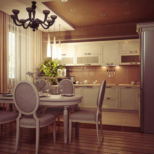 Кухня-гостиная по ул. Радужная. Квартира-студия