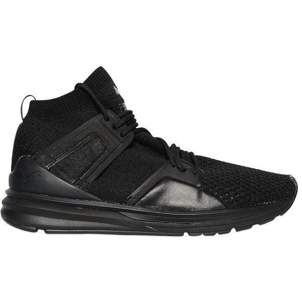 Puma Select Men Bog Limitless Nylon & Mesh Sneakers ($195) ❤ liked on Polyvore featuring men's fashion, men's shoes, men's sneakers, black, mens mesh shoes, mens sneakers, mens mesh sneakers, mens black shoes and puma mens shoes
