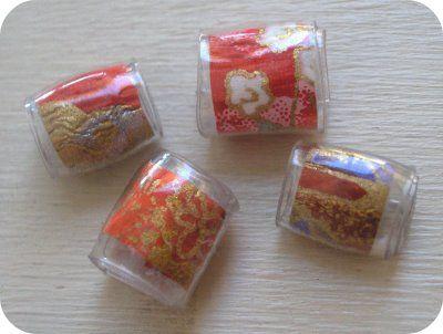 use hairdryer or heatgun to make Plastic beads from plastic soda bottles - come ricavare le perle dalle bottiglie di plastica