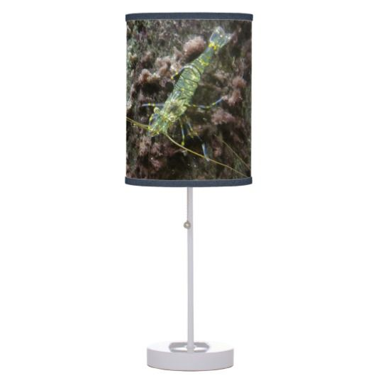 #zazzle #home #office #night #light #gift #giftidea #Lonely #Shrimps #Table #Lamp