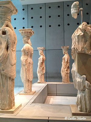 The original Caryatids from the Erechtheion, Greece by Caitlin Martin for Johnny Jet