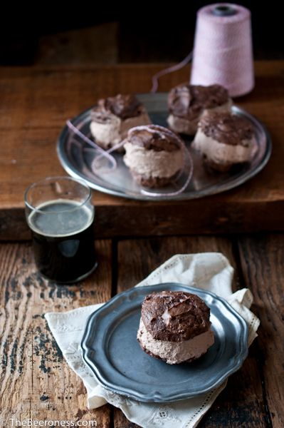 Chocolate Stout Ice Cream Sandwiches