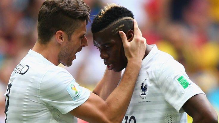 Olivier Giroud and Paul Pogba
