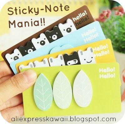 Aliexpress Kawaii Shopping: Leaf Sticky Note