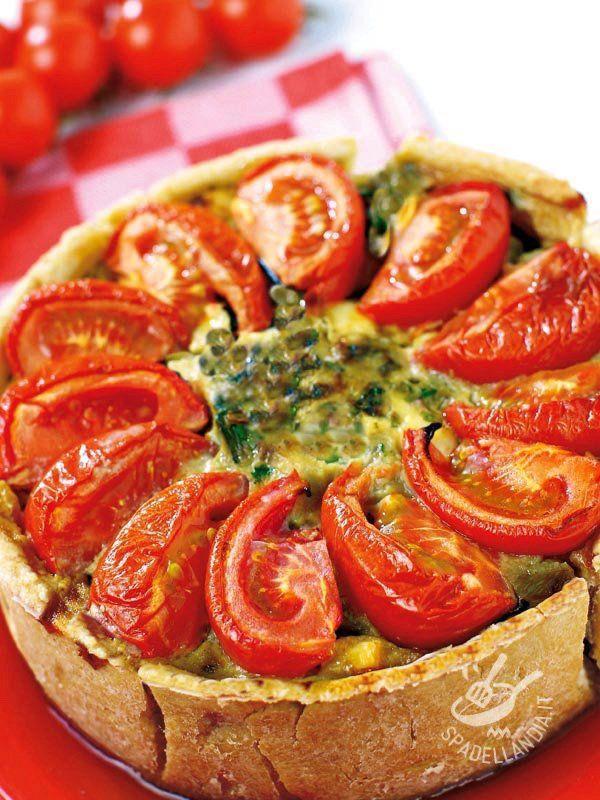 Se avete poco tempo, usate le melanzane surgelate già grigliate per la vostra irresistibile Torta salata di melanzane e pomodori!