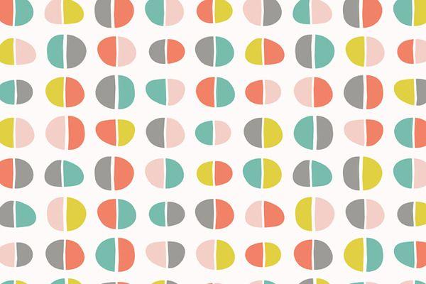 Coral & Jade Mod Dot Patterns by Blixa 6 Studios on Creative Market