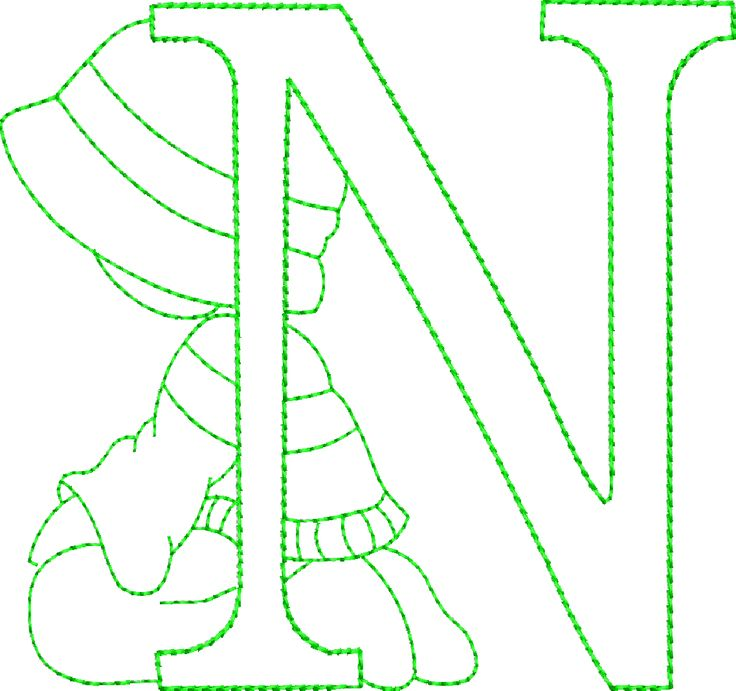 Sunbonnet Alphabet - Machine Embroidery Designs