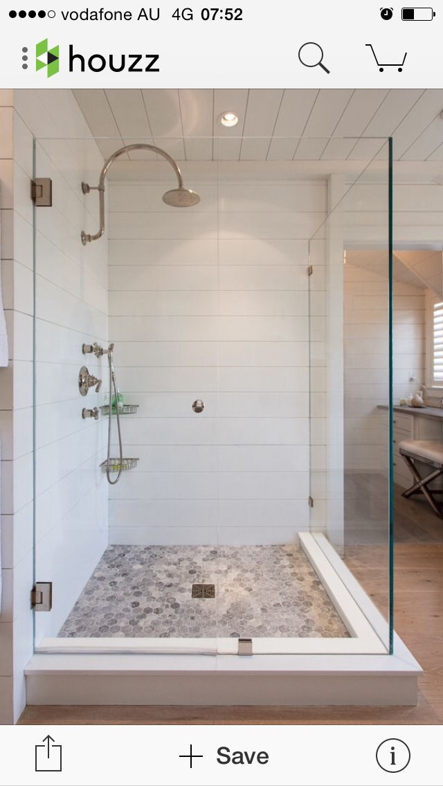 Like the shower head and tile in the shower floor!