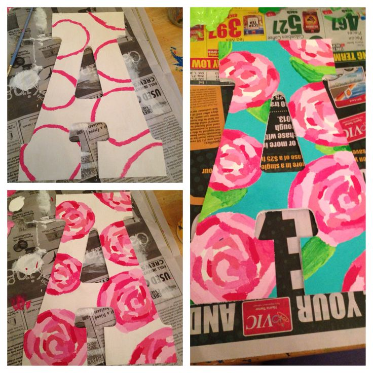 DIY Lilly Pulitzer wooden letter